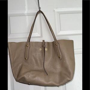 Annabel ingall leather tote bag